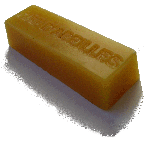 A block of beeswax